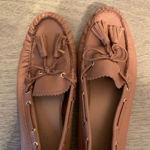 COACH- Leather Tassel Moccasin Flats Size 6.5